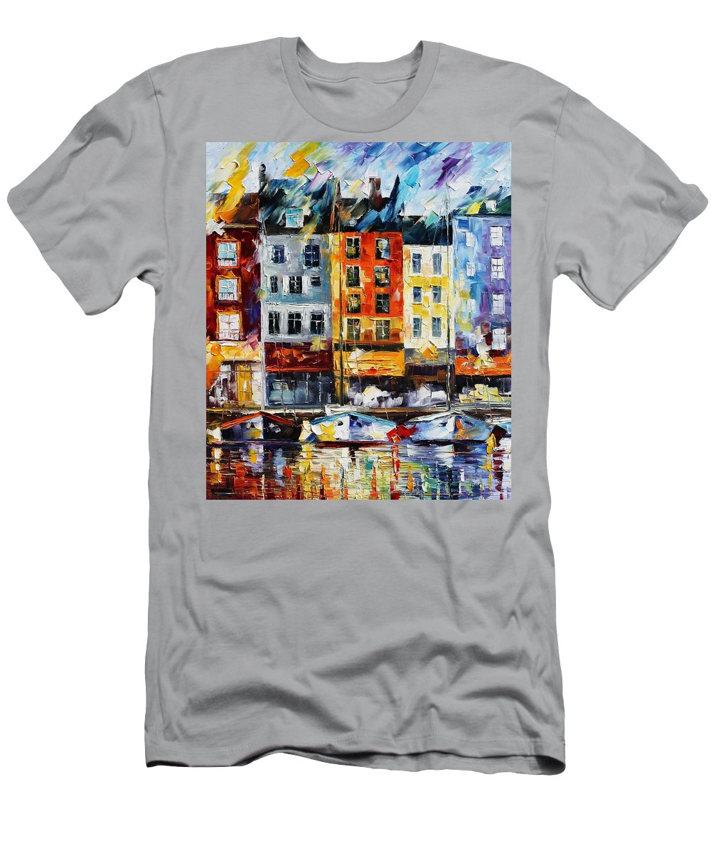 Afremov Men's T-Shirt (Athletic Fit) featuring the painting France New Original by Leonid Afremov