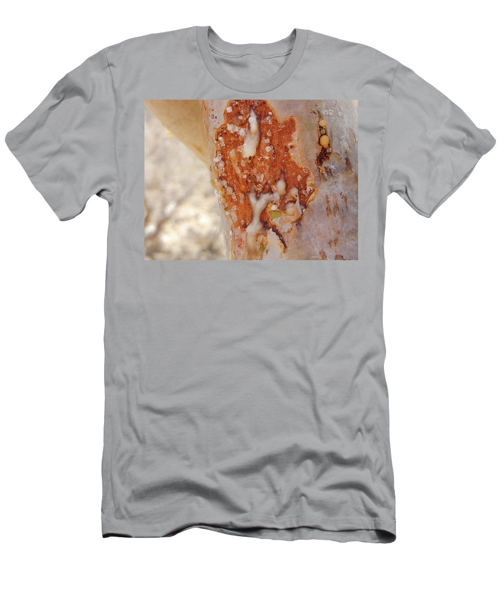 Frankincense Men's T-Shirt (Athletic Fit) featuring the photograph Frankincense Sap by Christina Zizzo