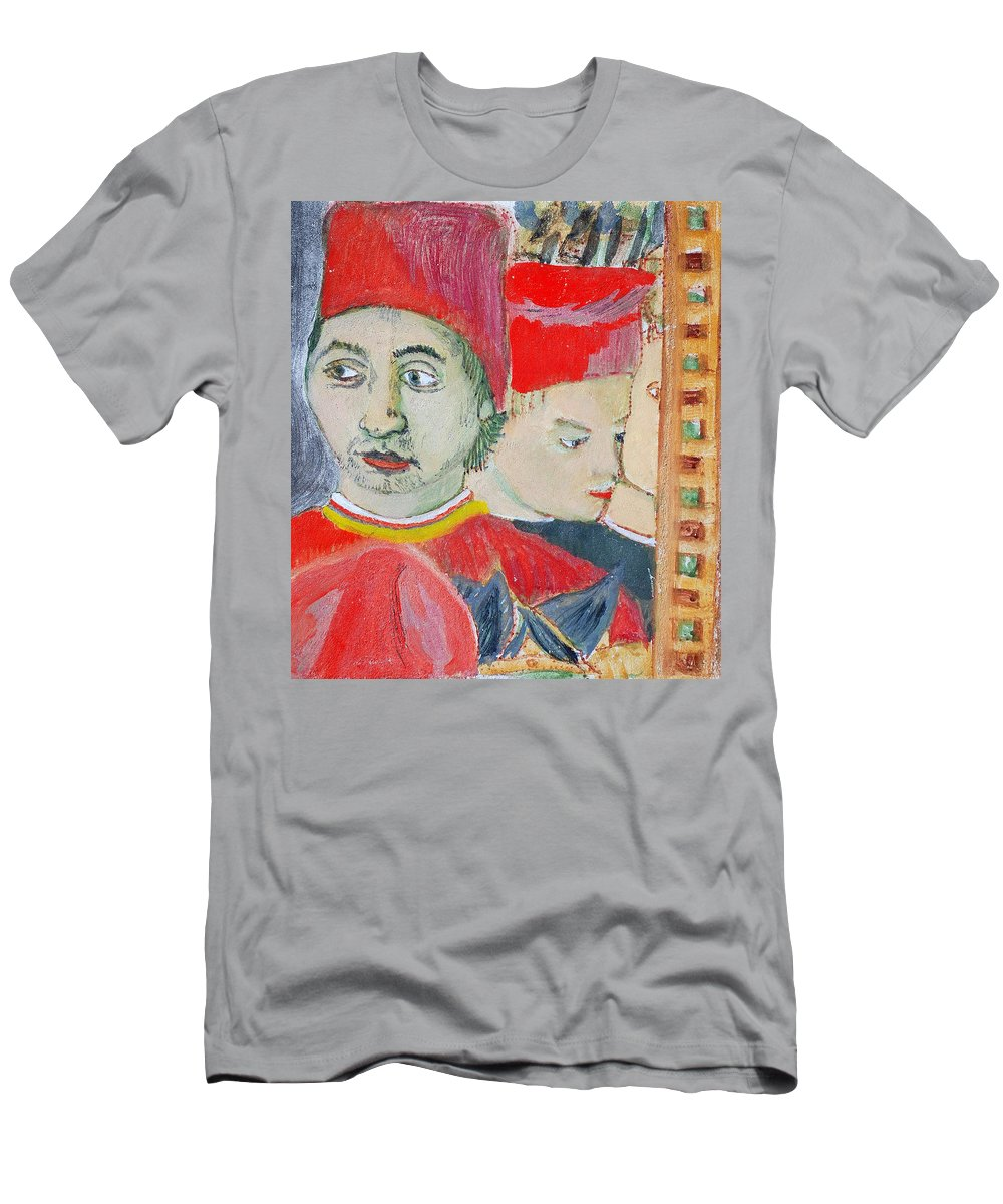 Italian Men's T-Shirt (Athletic Fit) featuring the painting Fratello by Kurt Hausmann