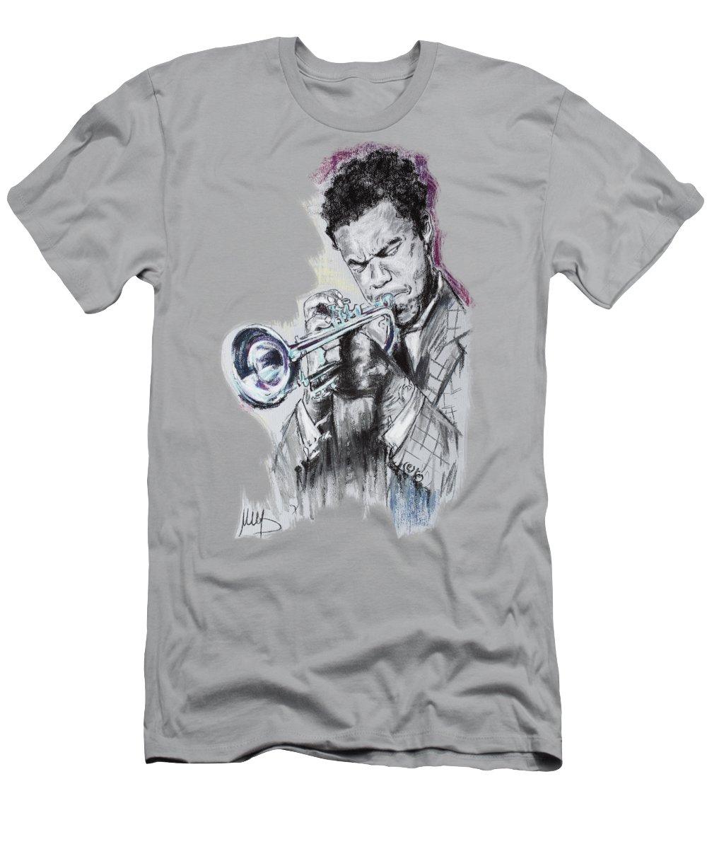Freddie Hubbard Men's T-Shirt (Athletic Fit) featuring the pastel Freddie Hubbard by Melanie D