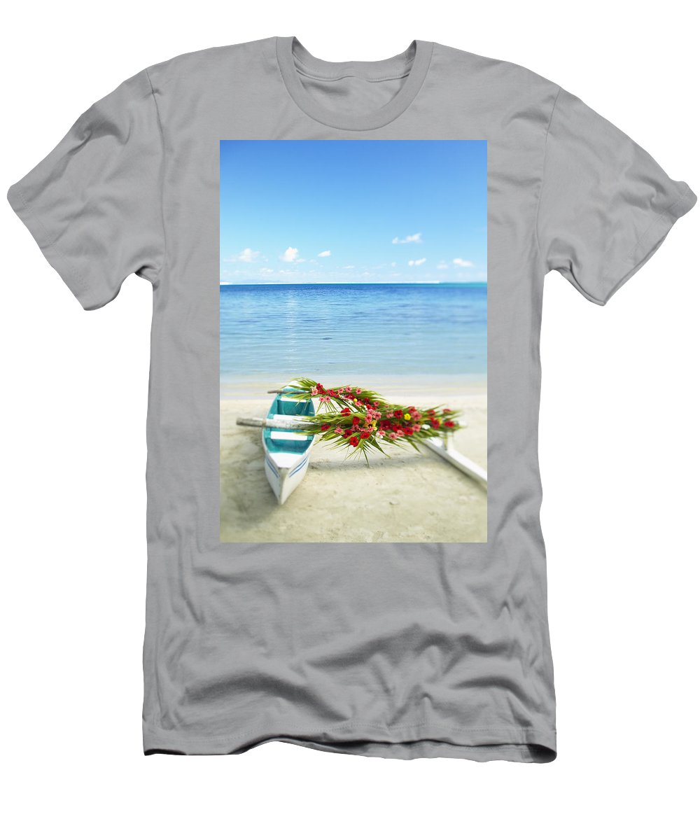 Afternoon Men's T-Shirt (Athletic Fit) featuring the photograph French Polynesia, Huahine by Kyle Rothenborg - Printscapes