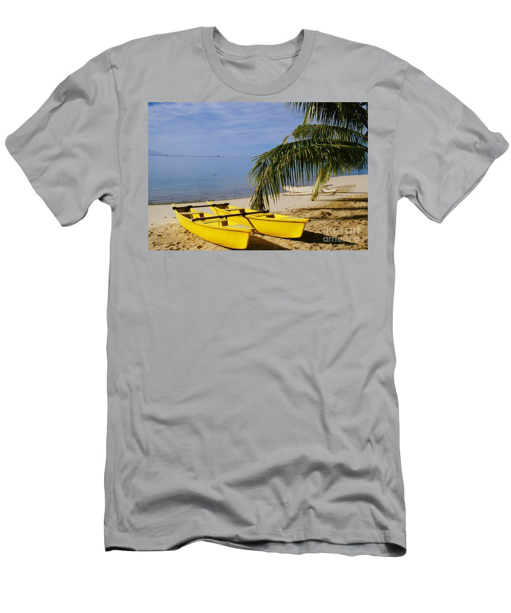 Afternoon Men's T-Shirt (Athletic Fit) featuring the photograph French Polynesia, Rangiro by Mary Van de Ven - Printscapes