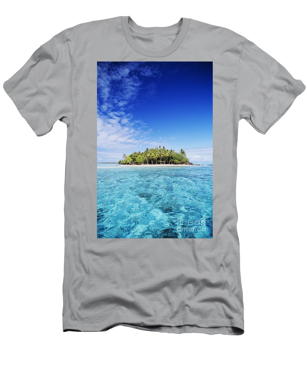 Beach Men's T-Shirt (Athletic Fit) featuring the photograph French Polynesian Island by Joe Carini - Printscapes