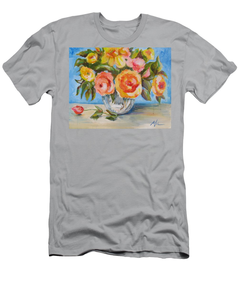 Floral Men's T-Shirt (Athletic Fit) featuring the painting Fresh Bouquet by Melody Horton Karandjeff
