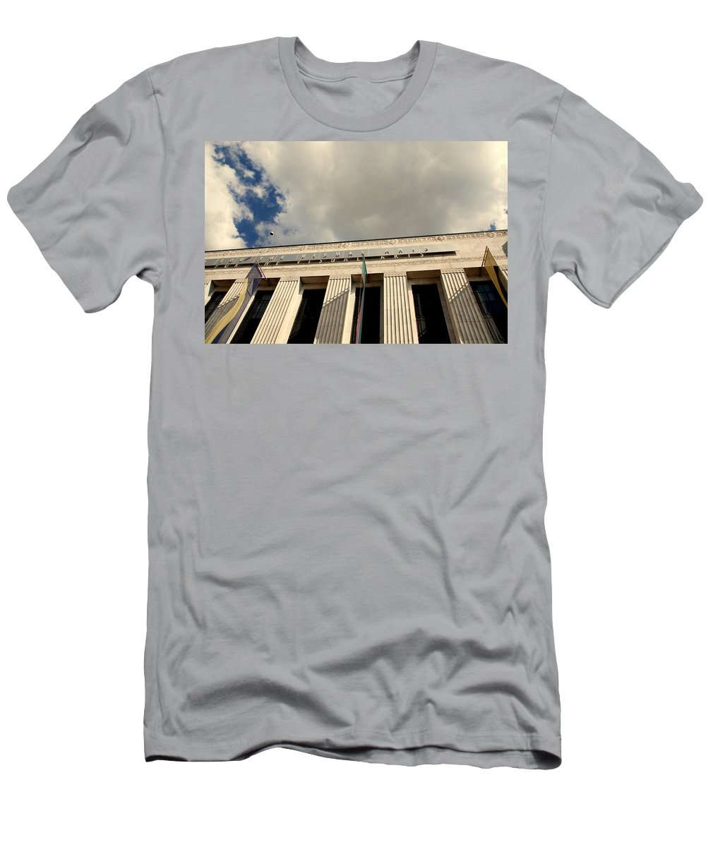 Frist Center For The Visual Arts Men's T-Shirt (Athletic Fit) featuring the photograph Frist Center For The Visual Art In Nashville Tn by Susanne Van Hulst