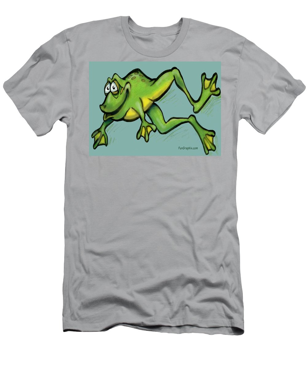Frog Men's T-Shirt (Athletic Fit) featuring the greeting card Frog by Kevin Middleton