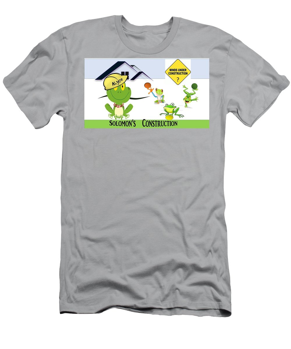 Men's T-Shirt (Athletic Fit) featuring the mixed media Frogs by Liz Lafalce