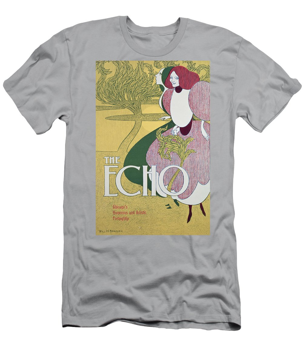 Echo Men's T-Shirt (Athletic Fit) featuring the painting Front Cover Of The Echo by William Bradley