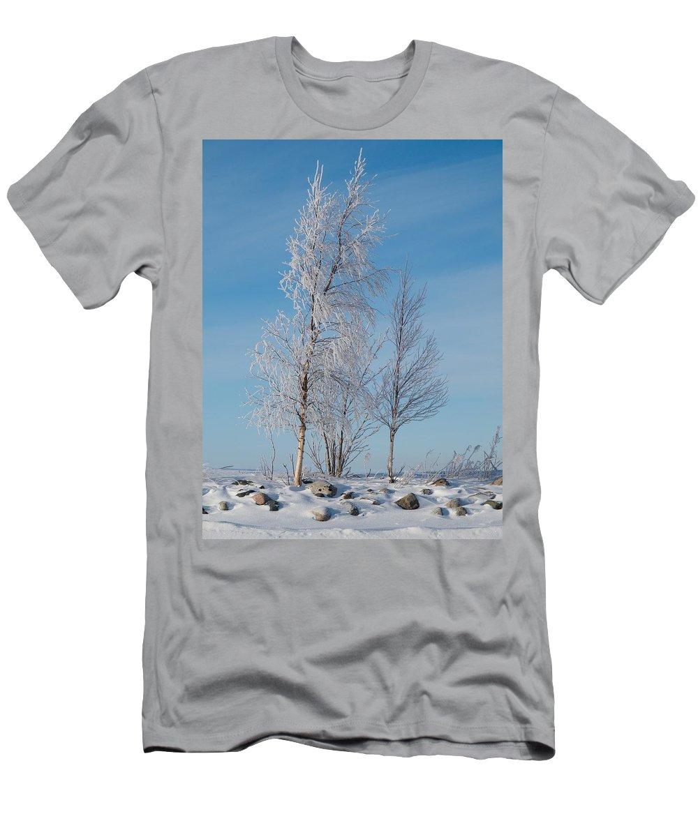 Talvi Men's T-Shirt (Athletic Fit) featuring the photograph Frozen Views 1 by Jouko Lehto