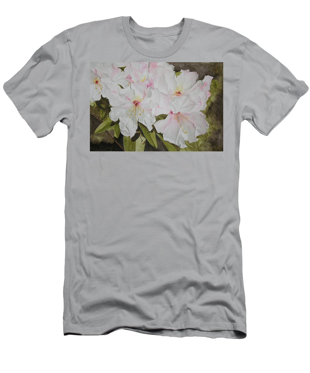 Flowers Men's T-Shirt (Athletic Fit) featuring the painting Full Bloom by Jean Blackmer