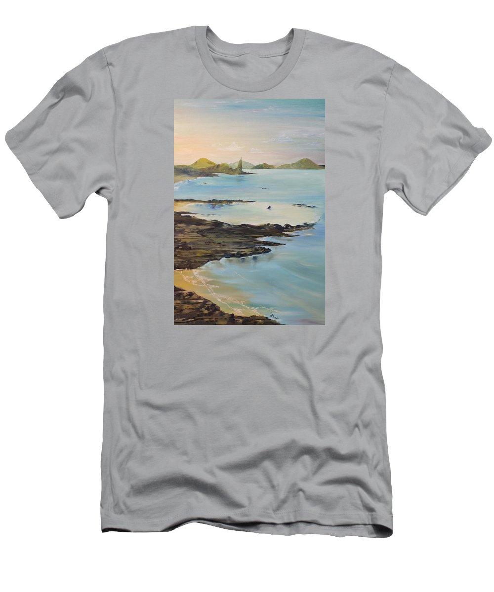 Ocean Men's T-Shirt (Athletic Fit) featuring the painting Galapagos2 by Ksenia VanderHoff