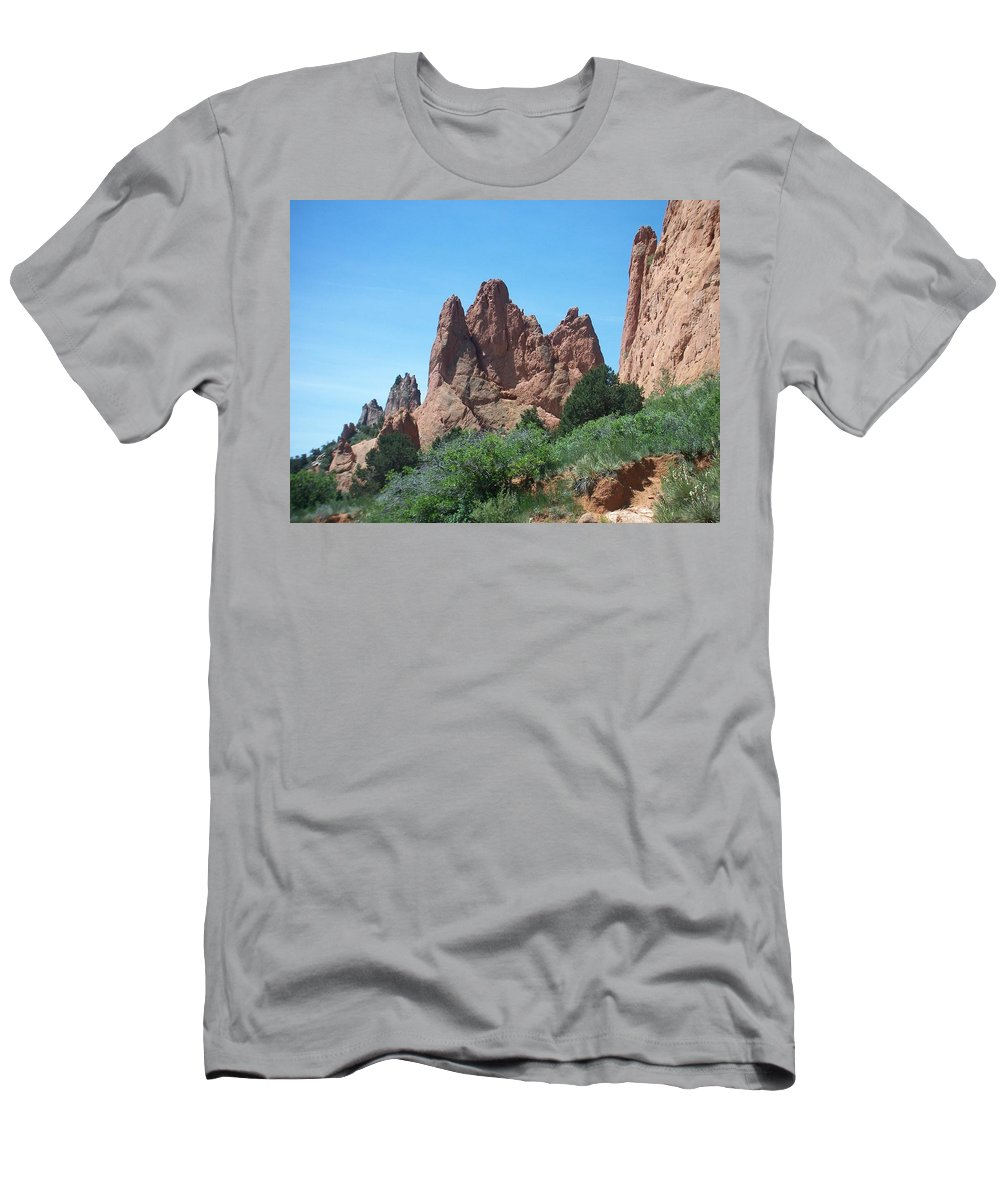 Colorado Men's T-Shirt (Athletic Fit) featuring the photograph Garden Of The Gods 2 by Anita Burgermeister