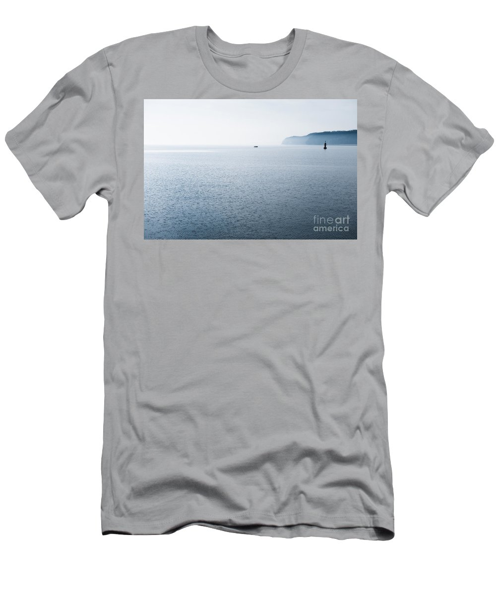 Gdynia Men's T-Shirt (Athletic Fit) featuring the photograph Gdynia Calming Baltic Sea Horizon by Arletta Cwalina
