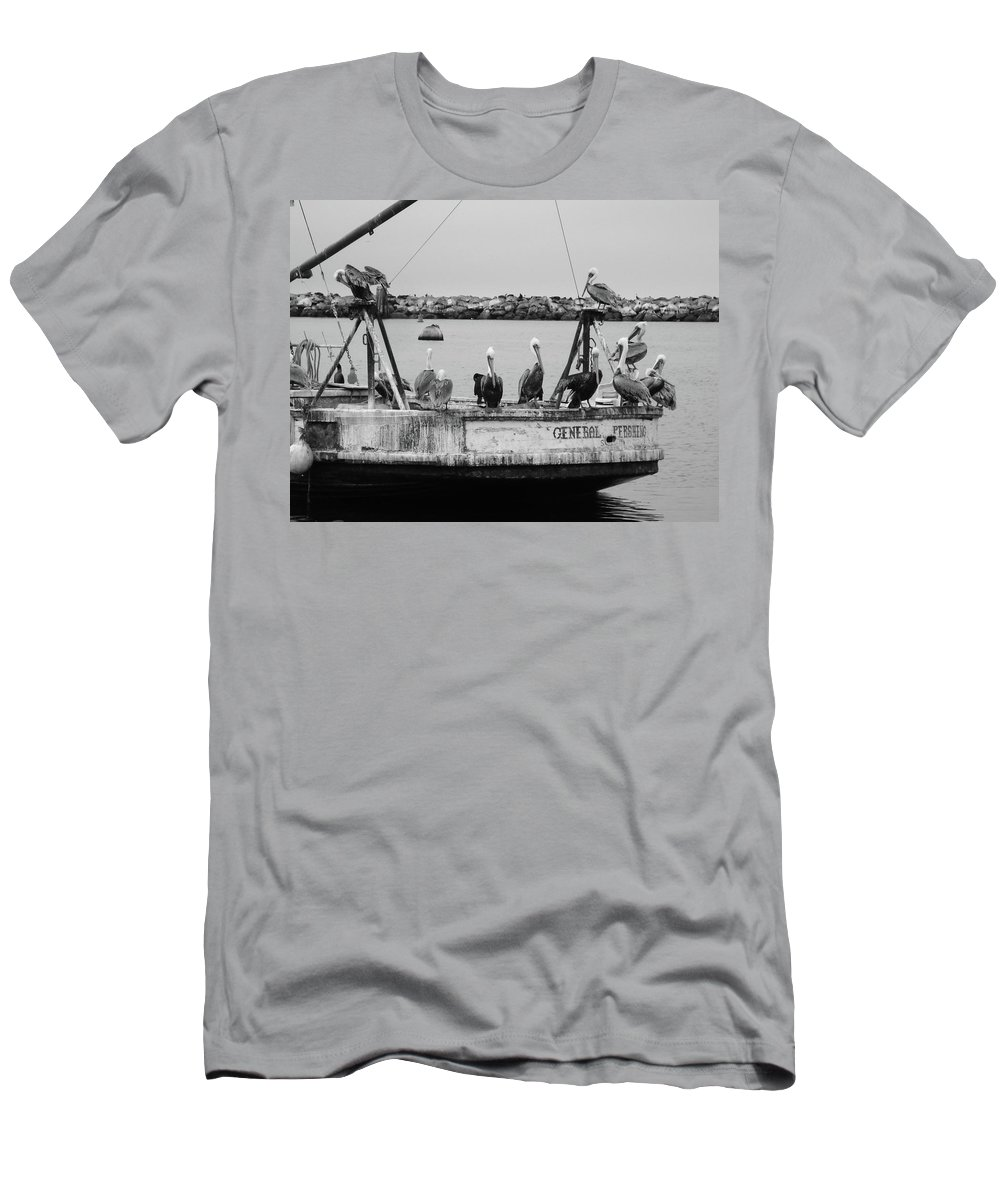 Boat Men's T-Shirt (Athletic Fit) featuring the photograph General Waiting by Cathi Abbiss Crane