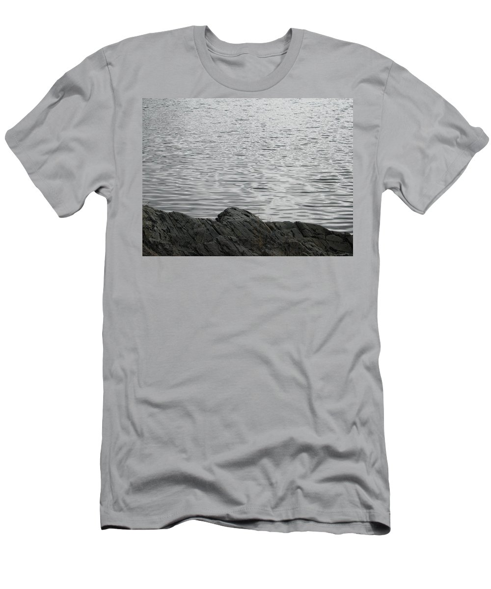 Water Men's T-Shirt (Athletic Fit) featuring the photograph Gentle Waters by Kelly Mezzapelle
