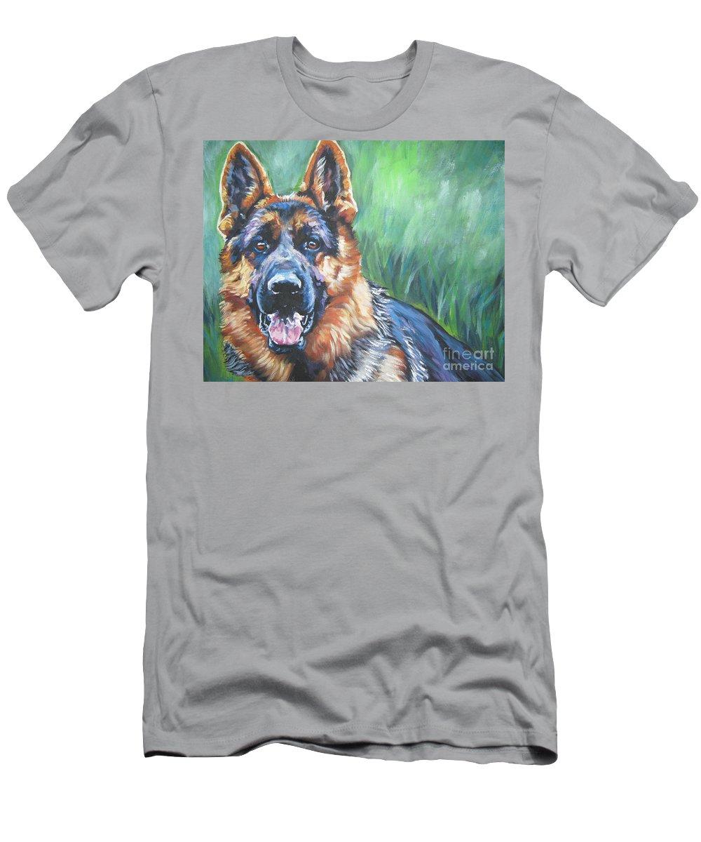 German Shepherd T-Shirt featuring the painting German Shepherd by Lee Ann Shepard
