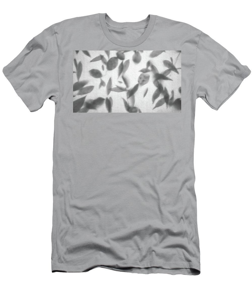 Leaves Men's T-Shirt (Athletic Fit) featuring the photograph Ghost Of Autumn Leaves by Philip Openshaw
