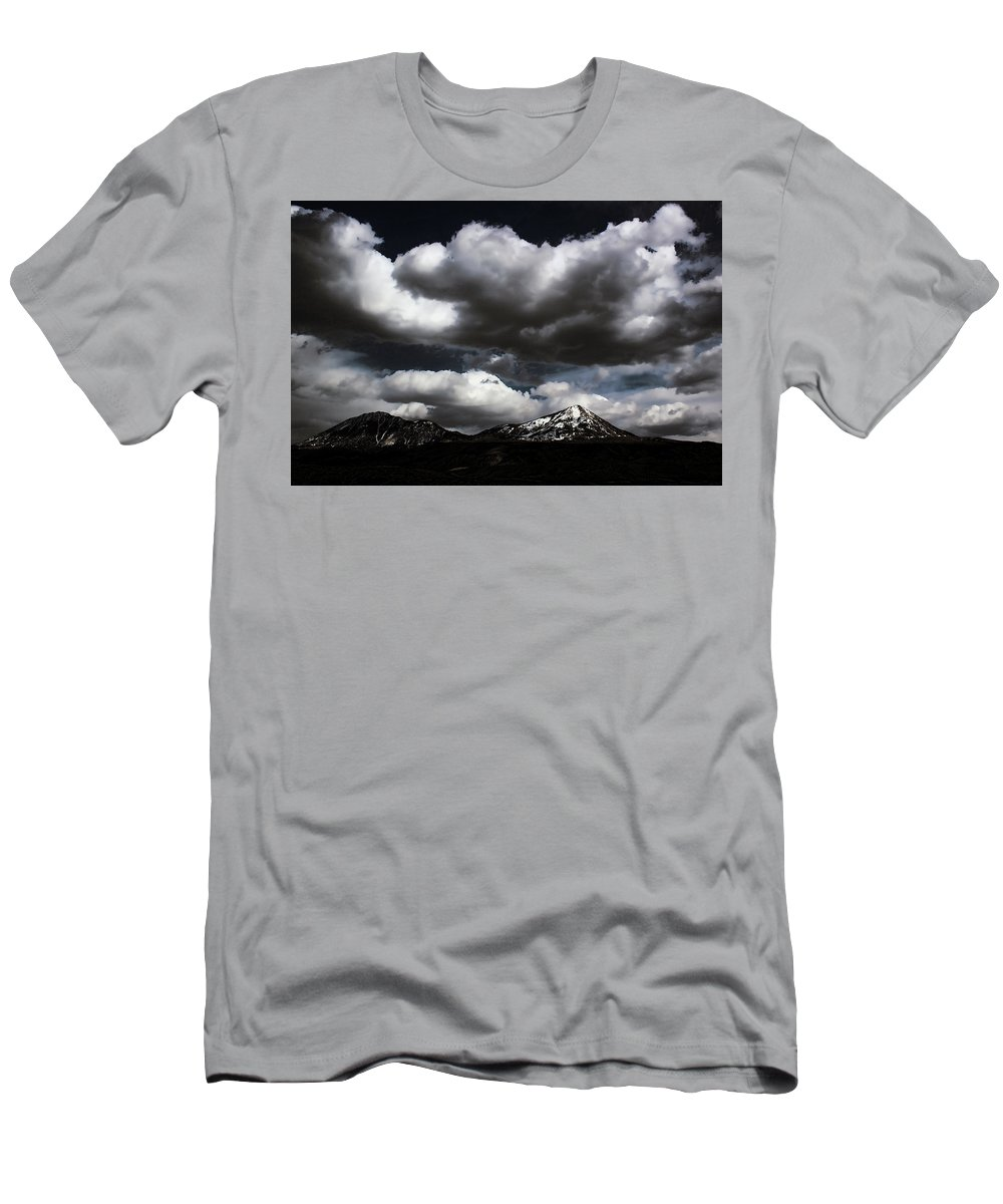 Landscape Men's T-Shirt (Athletic Fit) featuring the photograph Ghostly Dreams by Samantha Burrow