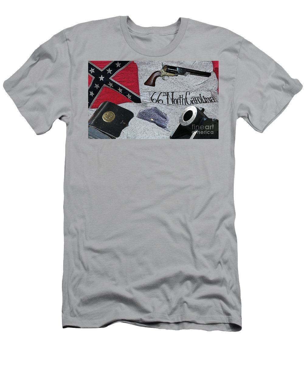 Civil War Men's T-Shirt (Athletic Fit) featuring the digital art Ghosts Of The Confederacy by Tommy Anderson