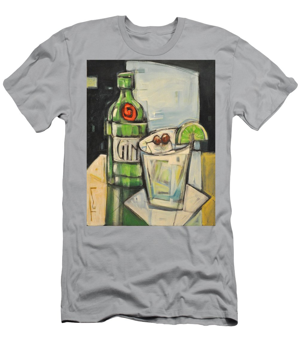 Gin Men's T-Shirt (Athletic Fit) featuring the painting Gin Gimlet by Tim Nyberg