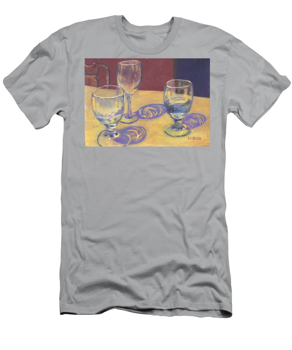 Glasses Men's T-Shirt (Athletic Fit) featuring the painting Glasslights by Sharon E Allen