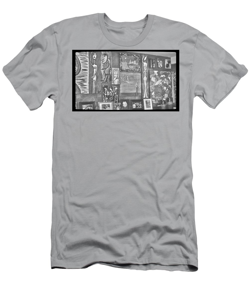 Art Men's T-Shirt (Athletic Fit) featuring the photograph Glimpses Of Where Art Lives 4 by Mario MJ Perron