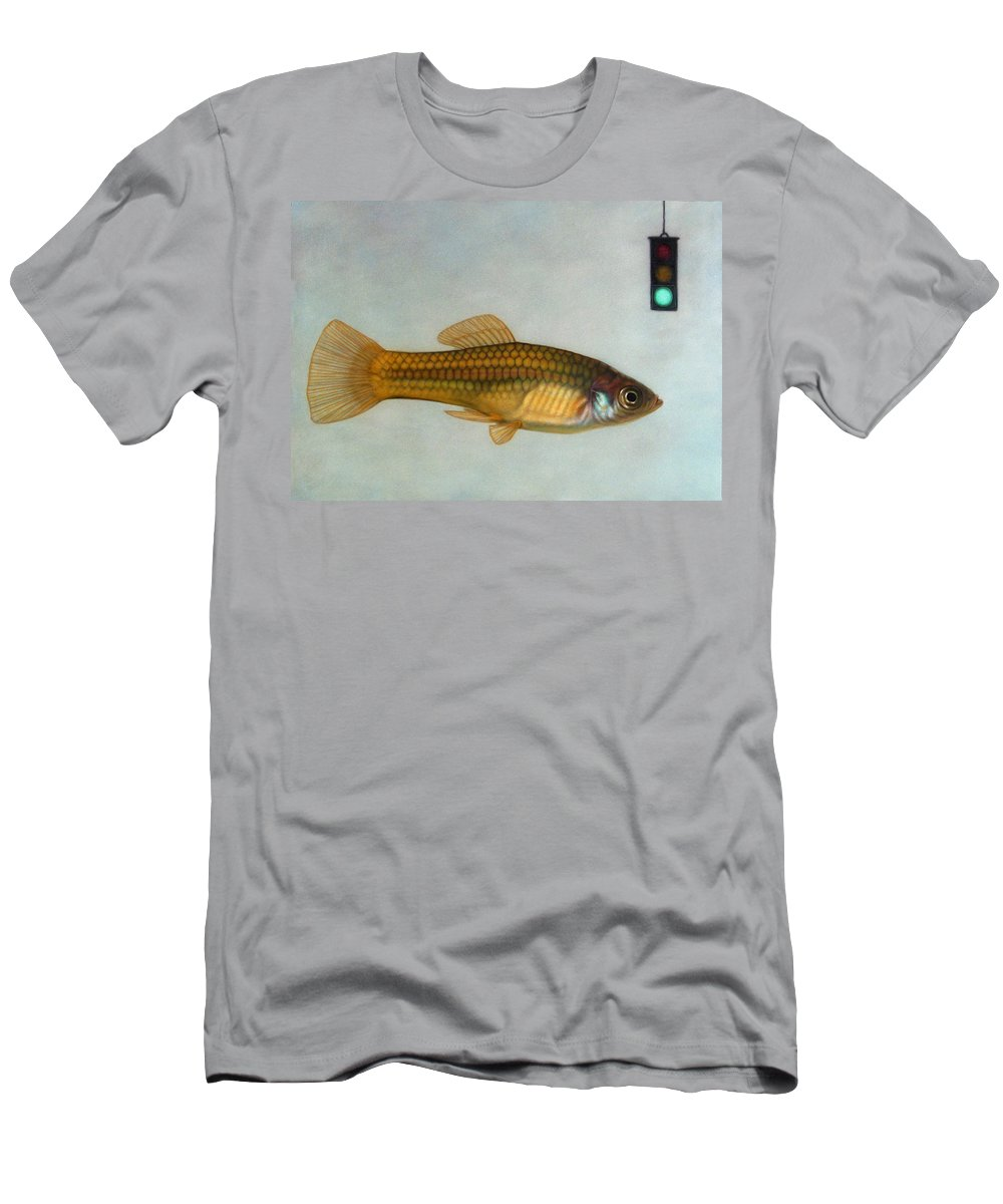 Fish Men's T-Shirt (Athletic Fit) featuring the painting Go Fish by James W Johnson