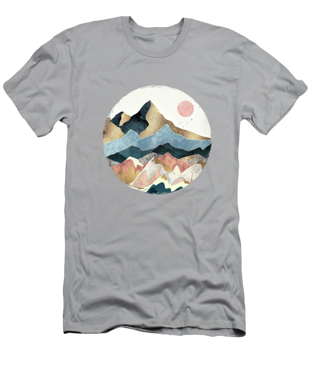 Gold T-Shirt featuring the digital art Golden Peaks by Spacefrog Designs