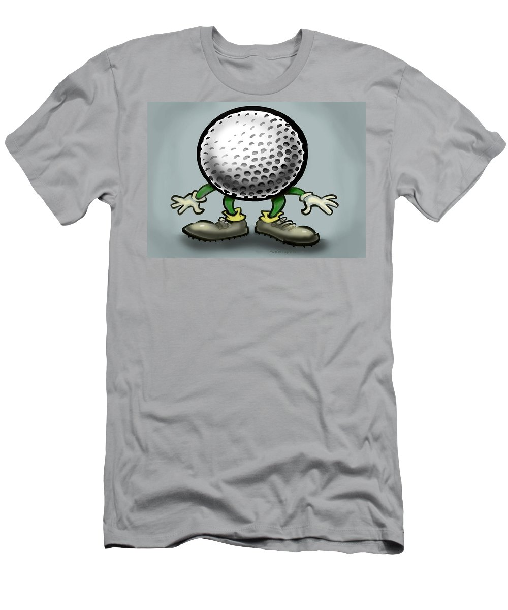 Golf Men's T-Shirt (Athletic Fit) featuring the greeting card Golf by Kevin Middleton
