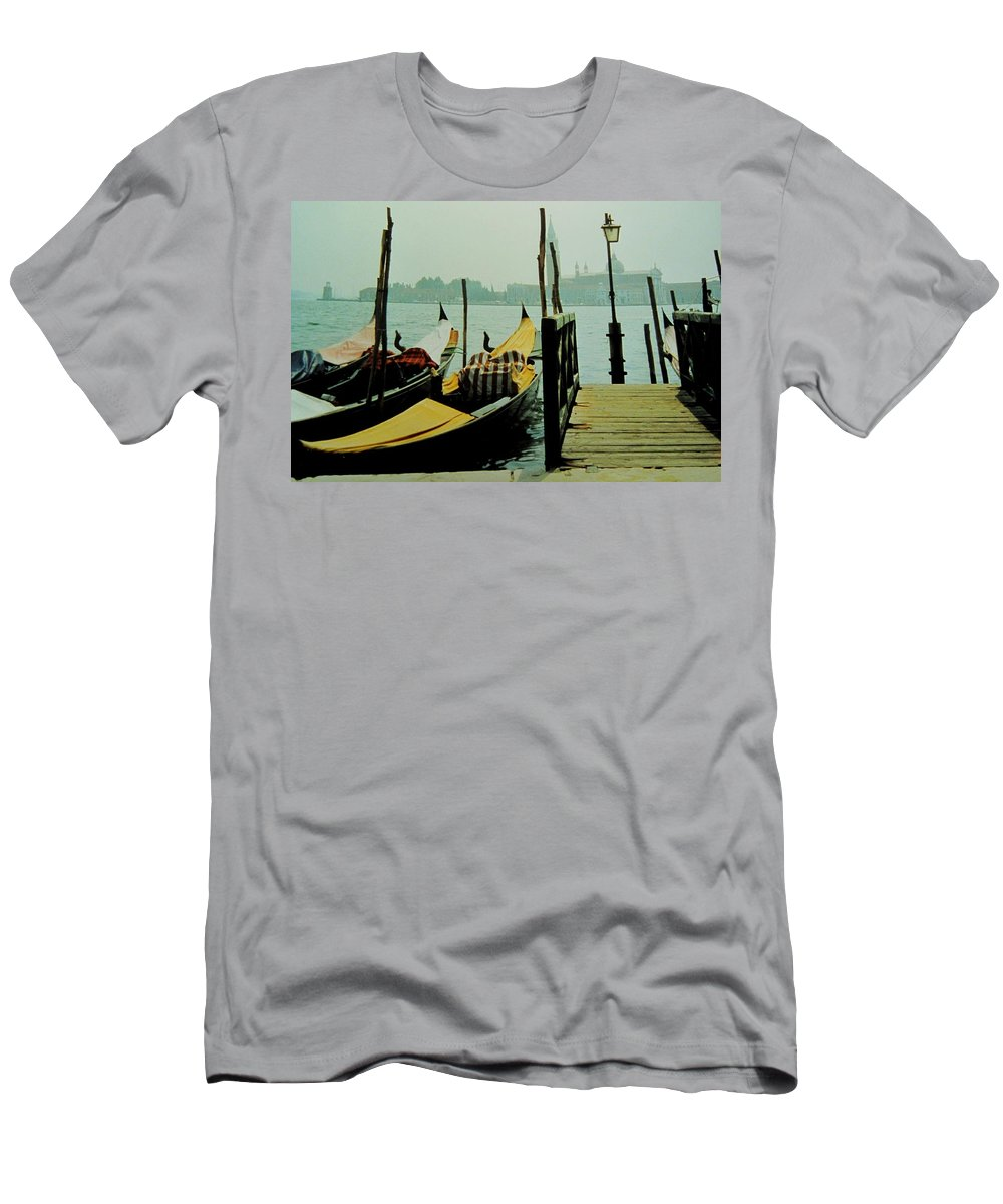 Venice Men's T-Shirt (Athletic Fit) featuring the photograph Gondolas by Ian MacDonald