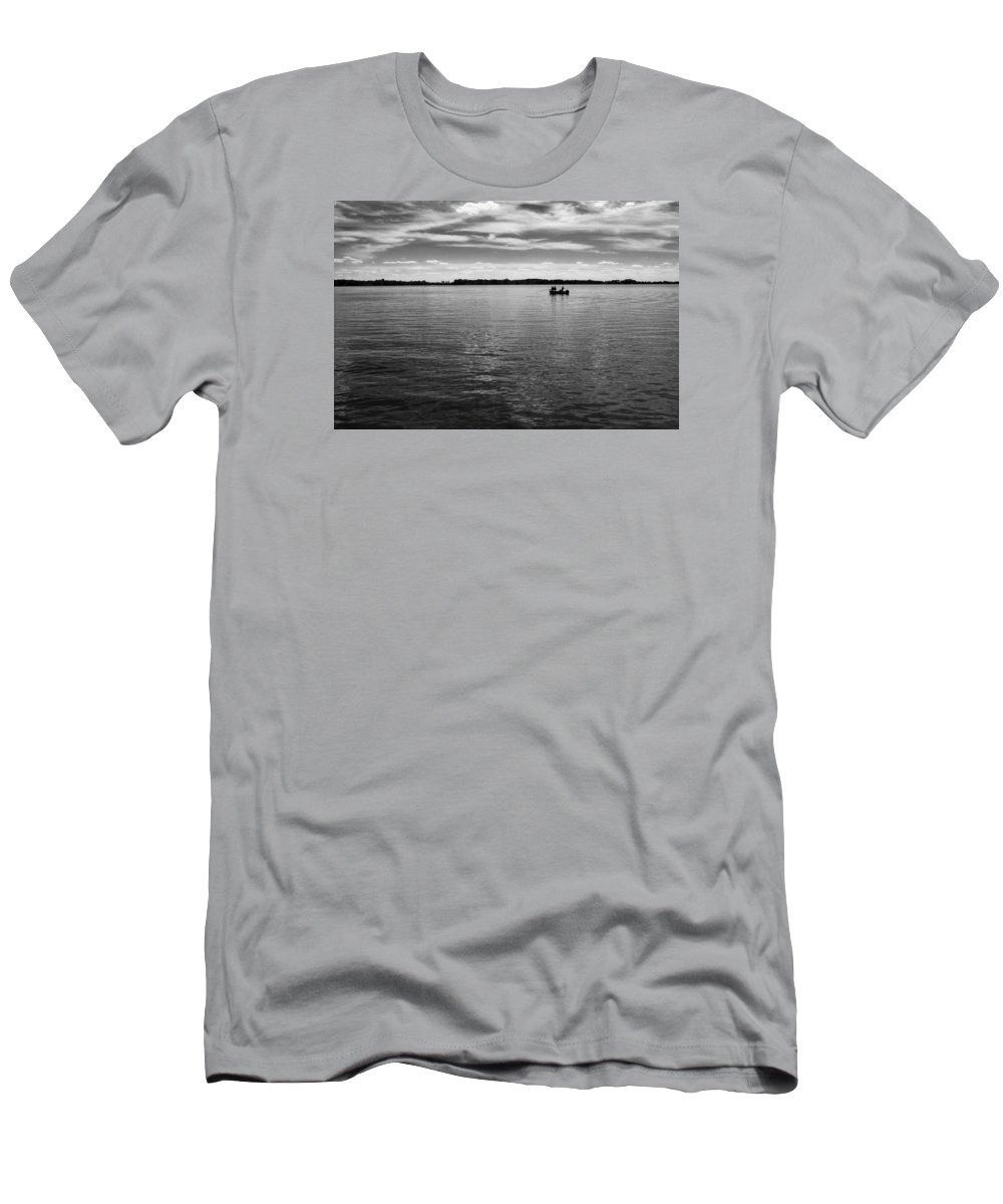 Lake Men's T-Shirt (Athletic Fit) featuring the photograph Gone Fishin' by Dario Boriani