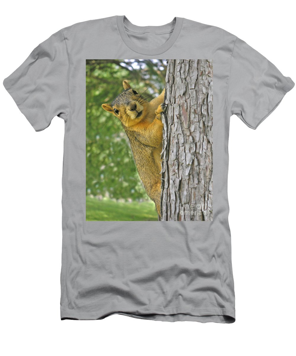 Nature Men's T-Shirt (Athletic Fit) featuring the photograph Good Morning by Lucyna A M Green