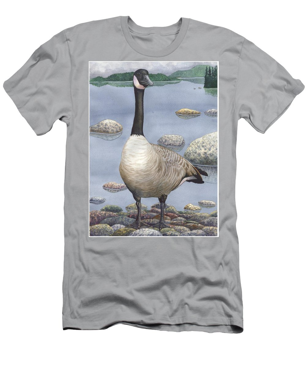 Goose Men's T-Shirt (Athletic Fit) featuring the painting Goose by Catherine G McElroy