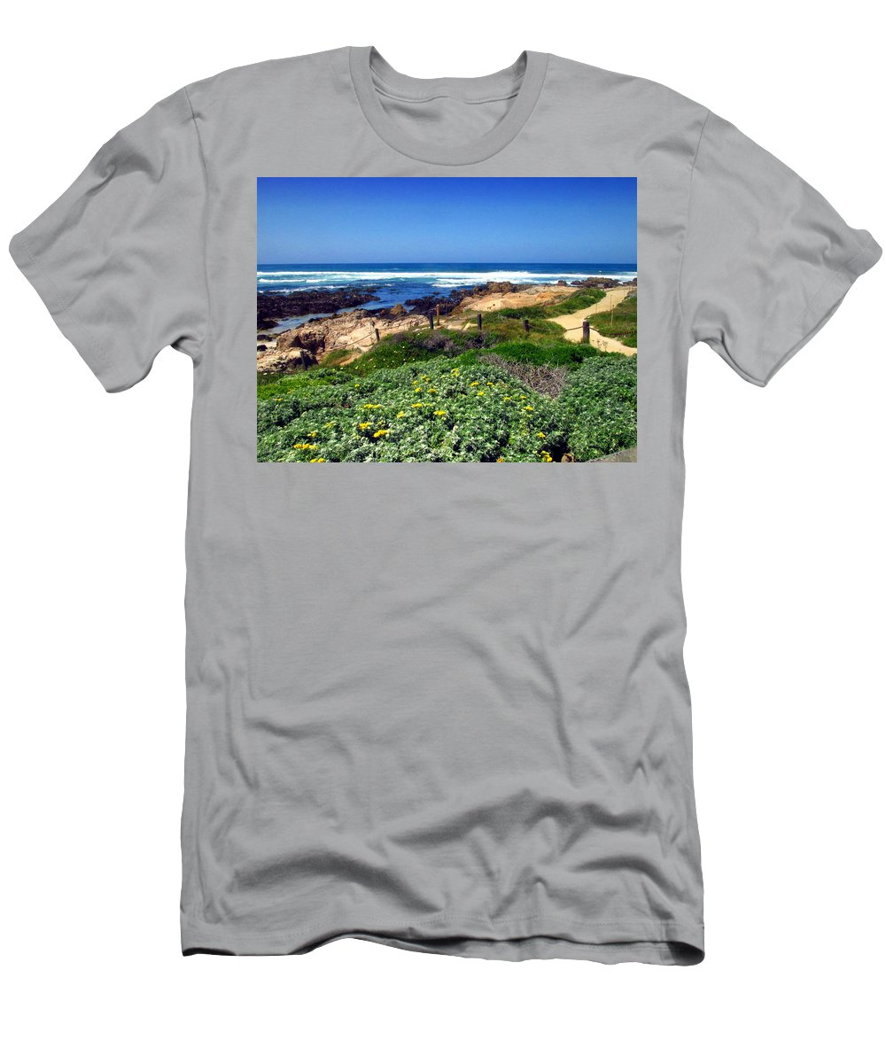 Asilomar Men's T-Shirt (Athletic Fit) featuring the photograph Gorgeous Asilomar by Joyce Dickens