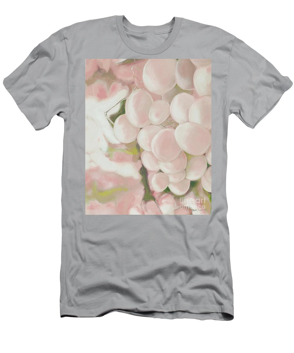 Grapes Men's T-Shirt (Athletic Fit) featuring the digital art Grapes Powder Pink by Elisabeth Skajem Atter