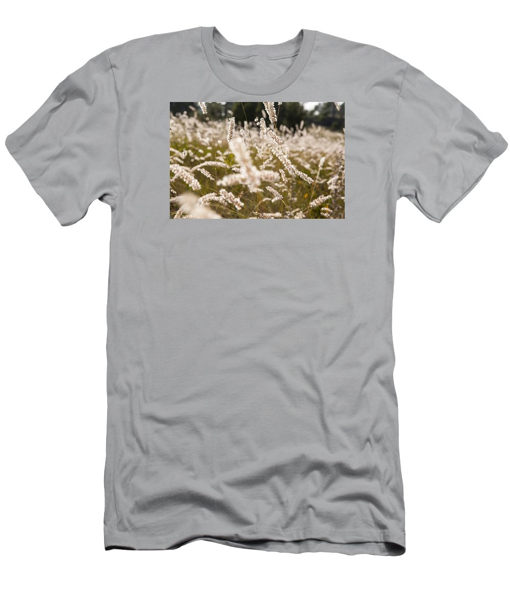 Summer Men's T-Shirt (Athletic Fit) featuring the photograph Grass Field by Stefan Sigemo