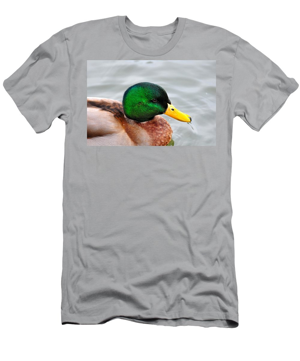 Men's T-Shirt (Athletic Fit) featuring the photograph Green Head by Todd Hostetter