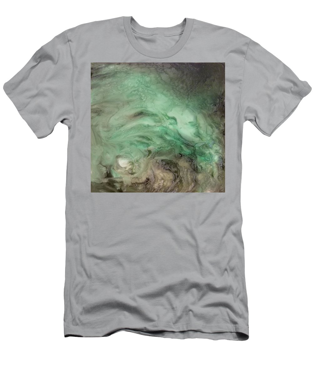 Green Men's T-Shirt (Athletic Fit) featuring the mixed media Green Texture by Daniel Gutierrez