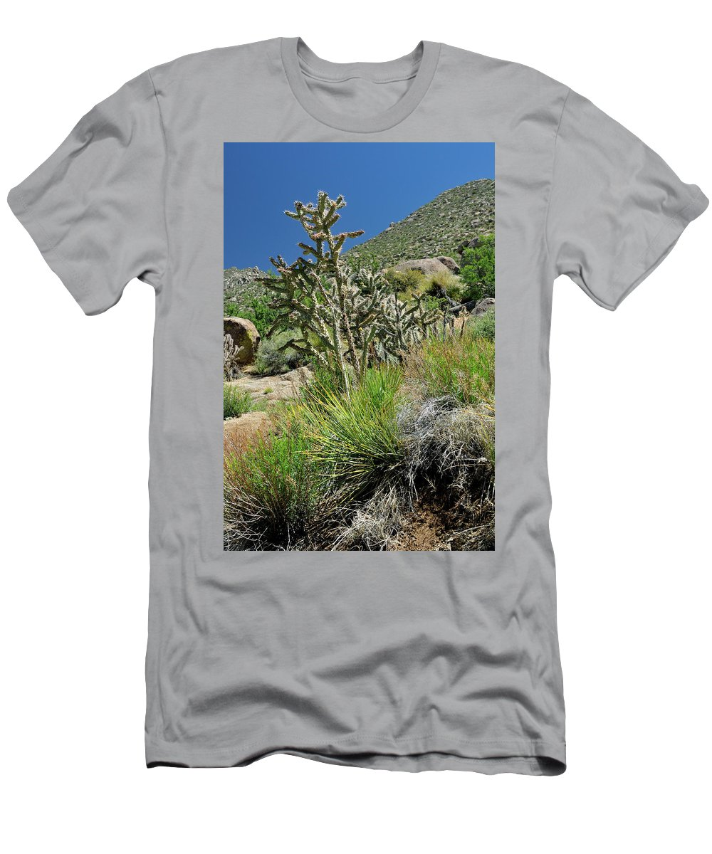 Landscape Men's T-Shirt (Athletic Fit) featuring the photograph Greening Of The High Desert by Ron Cline