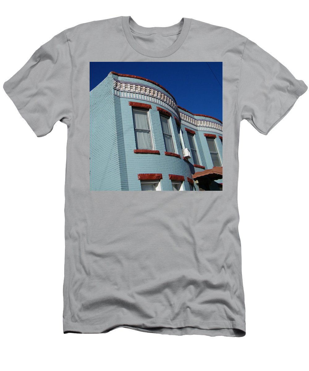 Abstract Men's T-Shirt (Athletic Fit) featuring the photograph Grey Brick by Lenore Senior