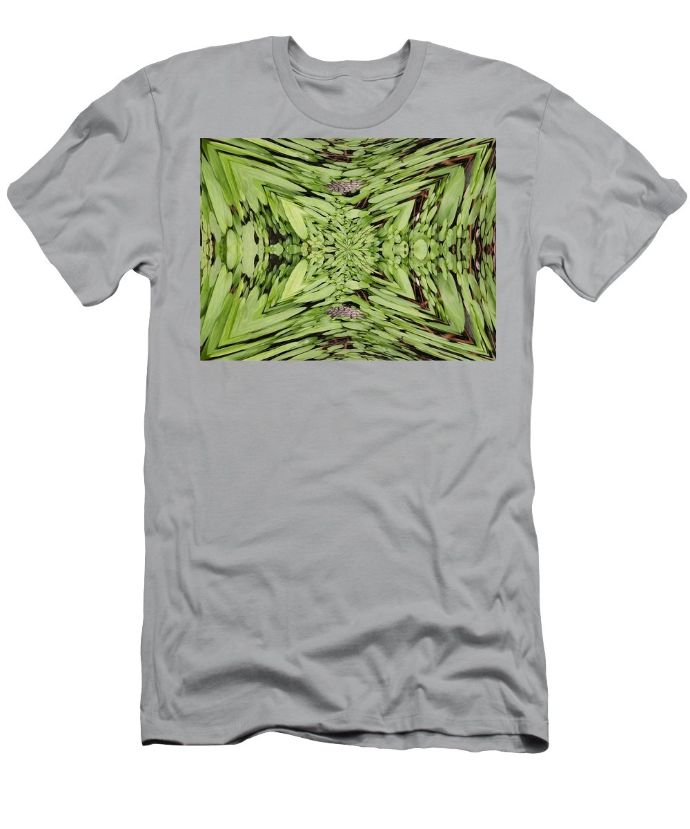 Nature Men's T-Shirt (Athletic Fit) featuring the digital art Ground Cover Vortex by Tim Allen