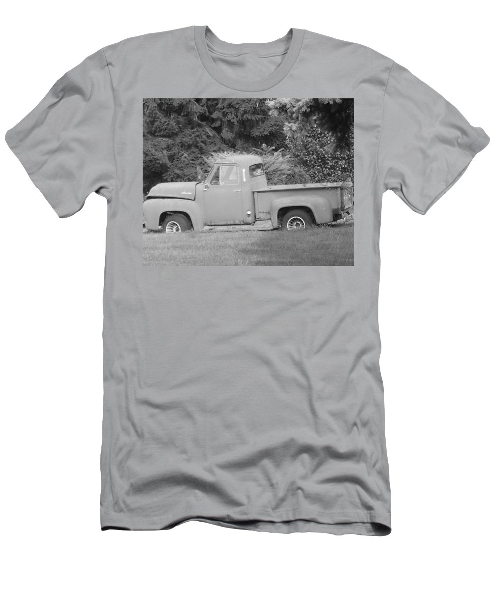 Truck Men's T-Shirt (Athletic Fit) featuring the photograph Grounded Pickup by Pharris Art