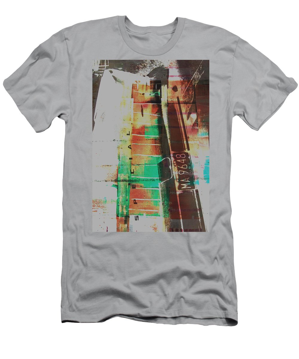 Abstract Men's T-Shirt (Athletic Fit) featuring the painting Grunge by David Studwell