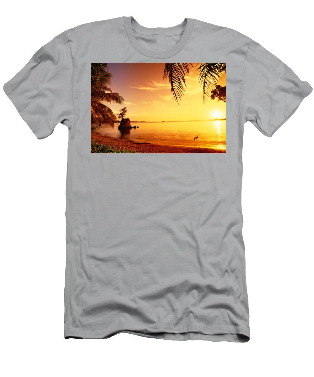 Agat Men's T-Shirt (Athletic Fit) featuring the photograph Guam, Agat Bay by Dave Fleetham - Printscapes