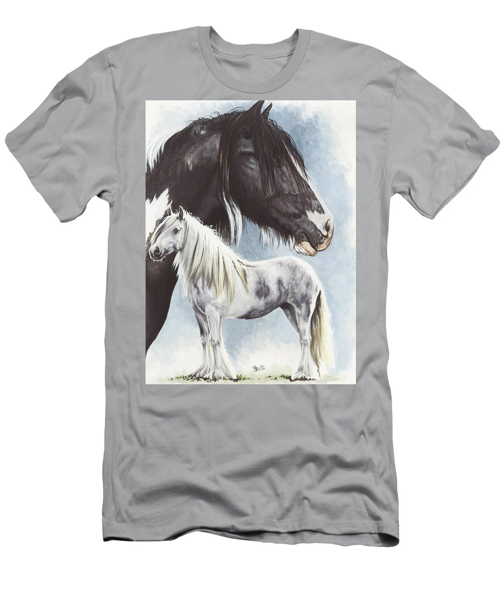 Equine Men's T-Shirt (Athletic Fit) featuring the mixed media Gypsy Cob by Barbara Keith