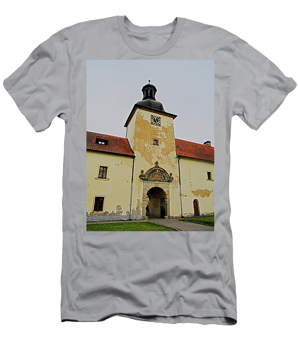 Europe Men's T-Shirt (Athletic Fit) featuring the photograph Half Past Eleven ... by Juergen Weiss