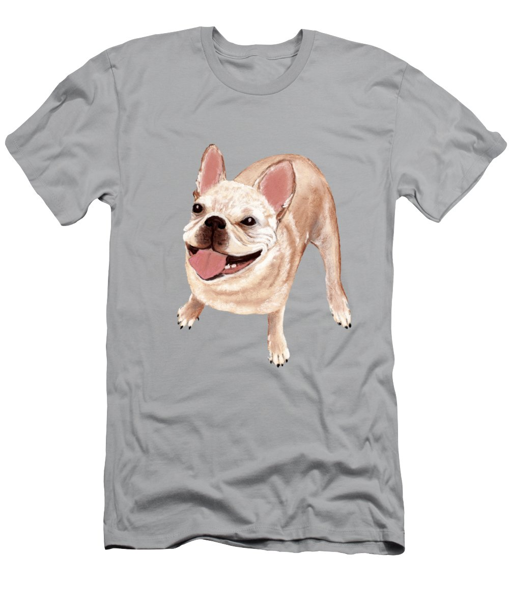 Dog Men's T-Shirt (Athletic Fit) featuring the painting Happy Dog by Anastasiya Malakhova