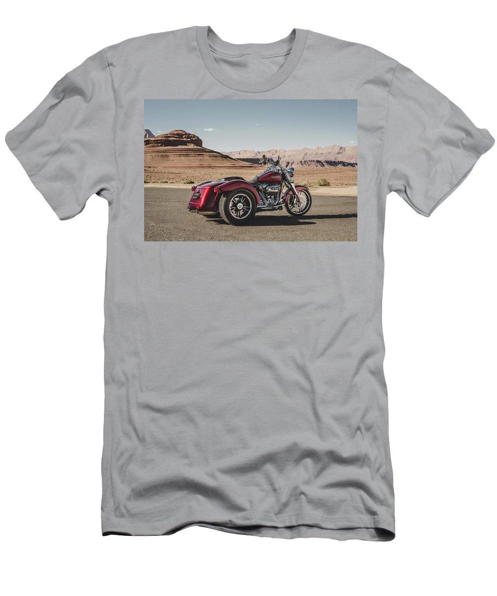 Harley-davidson Freewheeler T-Shirt featuring the digital art Harley-Davidson Freewheeler by Super Lovely