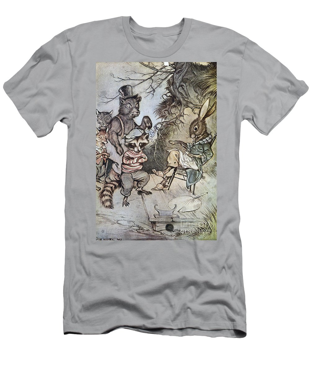 1917 Men's T-Shirt (Athletic Fit) featuring the photograph Harris: Uncle Remus, 1917 by Granger