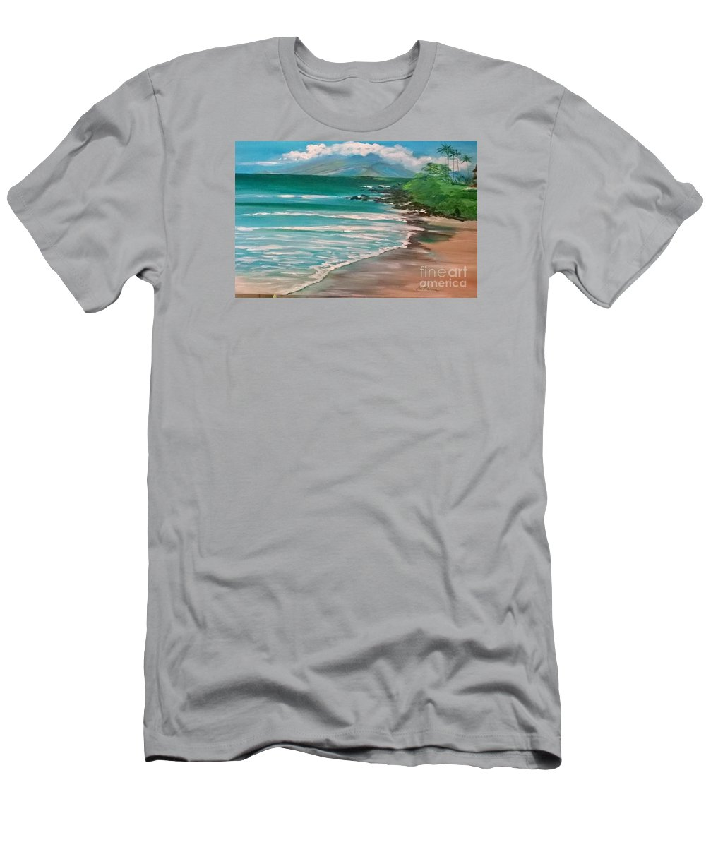 I Just Finished This Paninting For An Etsy Client. This Is Maui T-Shirt featuring the painting Hawaii Honeymoon by Jill Morris